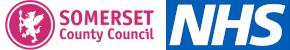 Somerset County Council and NHS logos